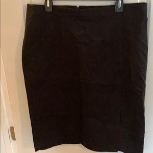 Banana Republic black pencil skirt size 16 tall